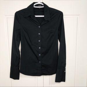 Jacob XS Women Black Blouse Dress Shirt